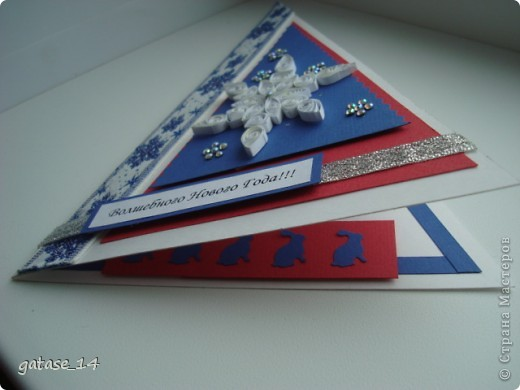 Новогодняя открыточка!!! Спасибо es-denol  за идею треугольника-елочки!!! фото 4