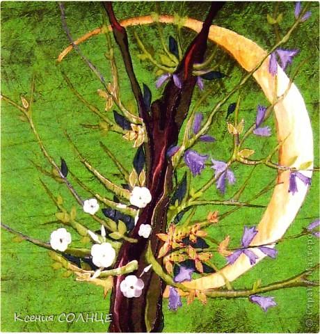 """Растущая луна. фрагмент росписи. Роспись """" ProstoDelkino.com - поделки своими руками."""