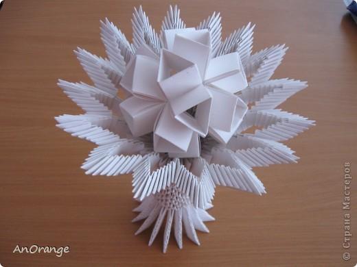 Мастер-класс Поделка изделие Оригами китайское модульное Ваза Байтерек Бумага фото 2