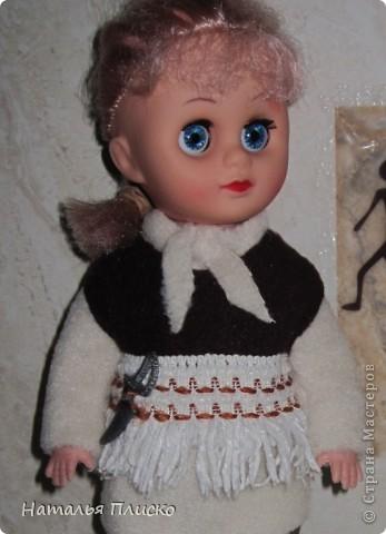 """В детском саду мне дали очередное """"домашнее"""" задание - пошить куклам наряды  с национальной тематикой. Вот что у меня получилось... фото 3"""