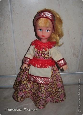 """В детском саду мне дали очередное """"домашнее"""" задание - пошить куклам наряды  с национальной тематикой. Вот что у меня получилось... фото 5"""