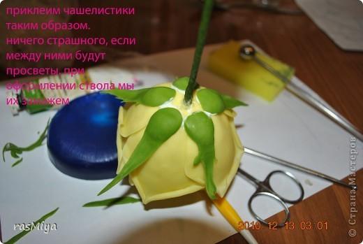 МК по лепке розы. Часть 2-чашелистики фото 6