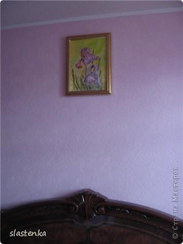 Ирисы. Холодный батик фото 2