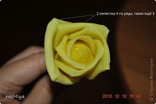 МК буду выкладывать частями (жаль загружается фото медленно), здесь покажу, как слепить сам цветок, в след. записях-чашелистики, листья, стебель, покраска. фото 16
