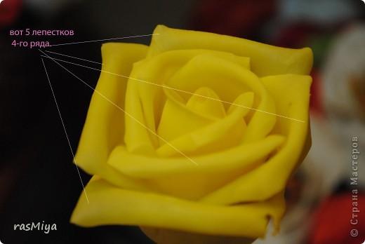 МК буду выкладывать частями (жаль загружается фото медленно), здесь покажу, как слепить сам цветок, в след. записях-чашелистики, листья, стебель, покраска. фото 17