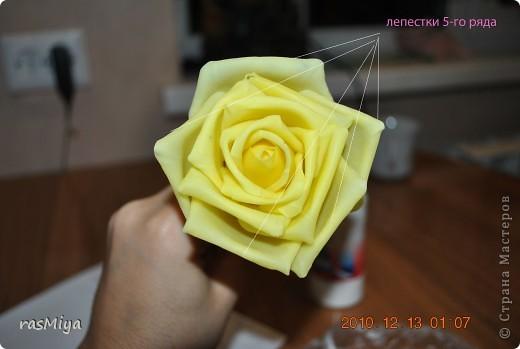 МК буду выкладывать частями (жаль загружается фото медленно), здесь покажу, как слепить сам цветок, в след. записях-чашелистики, листья, стебель, покраска. фото 20