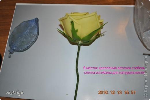 МК по лепке розы.Часть4-оформление стебля  фото 1