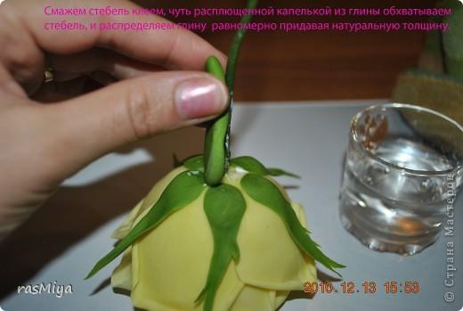 МК по лепке розы.Часть4-оформление стебля  фото 3