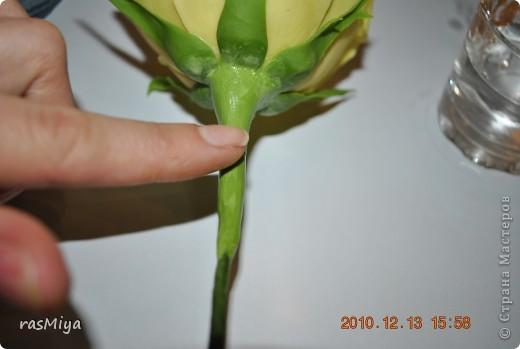 Мастер-класс Лепка МК по лепке розы Часть4-оформление стебля Фарфор холодный фото 5