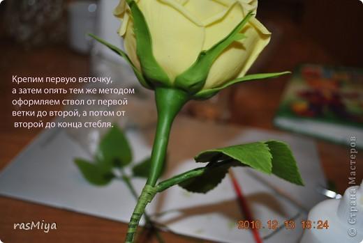 Мастер-класс Лепка МК по лепке розы Часть4-оформление стебля Фарфор холодный фото 8