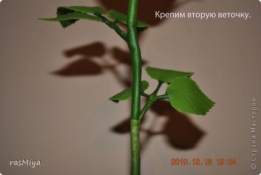 МК по лепке розы.Часть4-оформление стебля  фото 10