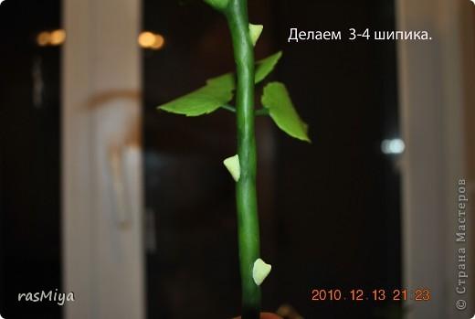 МК по лепке розы.Часть4-оформление стебля  фото 15