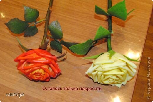 МК по лепке розы.Часть4-оформление стебля  фото 16