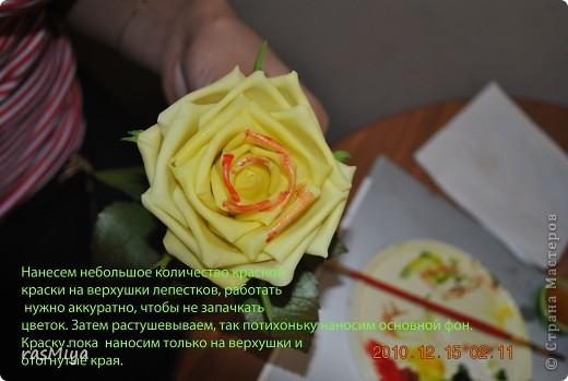 Мастер-класс Лепка МК по лепке розы Часть5-покраска Фарфор холодный фото 9