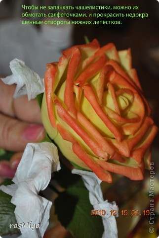 МК по лепке розы. Часть5-покраска. фото 11
