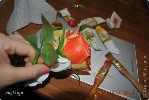 МК по лепке розы. Часть5-покраска. фото 14
