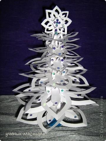 Эта елочка появилась благодаря МК Надежды Каликовой - http://stranamasterov.ru/node/120608?c=favorite. Спасибо большое за прекрасные снежинки!!! фото 1