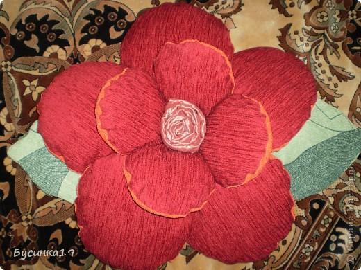 Подушка - роза фото 1