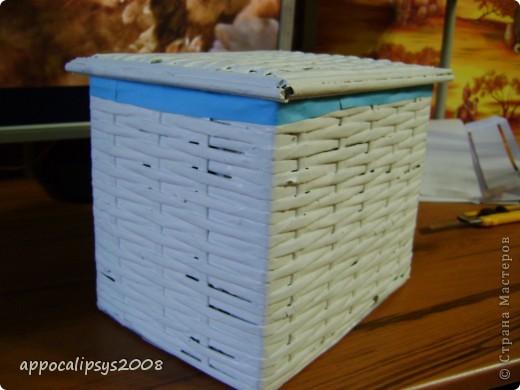 плетеная шкатулка фото 3