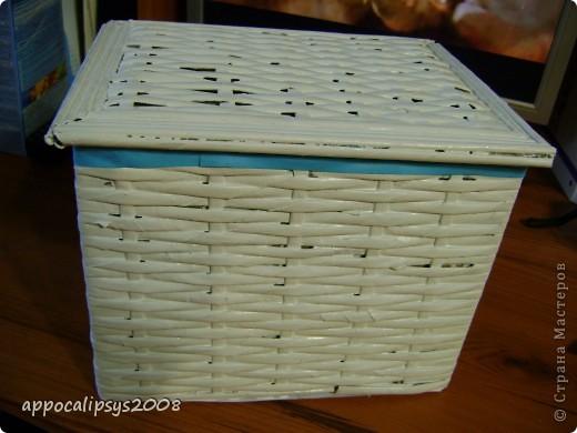 плетеная шкатулка фото 2