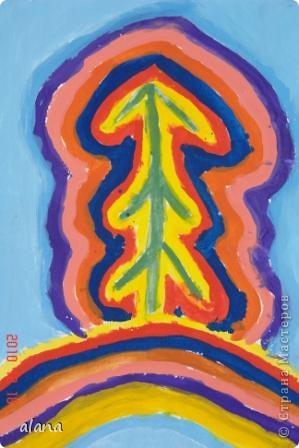 """Накануне зимних праздников все мы находимся в ожидании чудес. Вот и ребята """"колдовали"""" над своими елочками, украшая их самыми разными цветами. Жаль, что не успели на уроке украсить каждый слой каким- либо узором (можно фломастером) Эту идею необычной елочки предложила Серикова И.А.  http://inka.duma.midural.ru/  фото 4"""