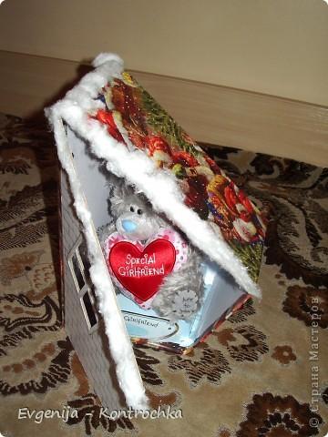 Подарочная коробочка к Новому году своими руками.  фото 1