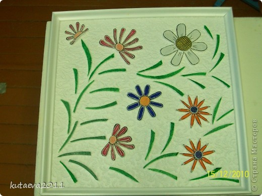 Работа выполнена из пенопласта. раскрашена гуашью и медовыми красками фото 4
