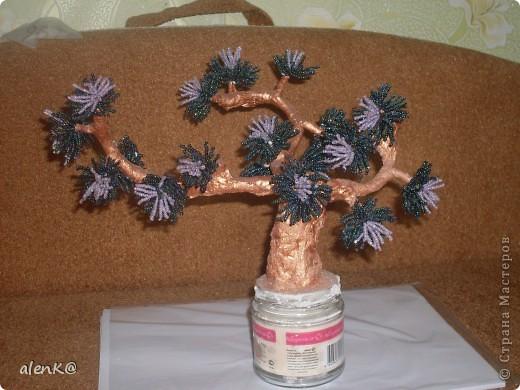 что за дерево получилось не знаю. видела похожее на одном из сайтов, решила изобразить что то подобное, ну очень понравились мохнатые веточки. фото 1