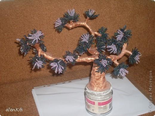 что за дерево получилось не знаю. видела похожее на одном из сайтов, решила изобразить что то подобное, ну очень понравились мохнатые веточки. фото 2