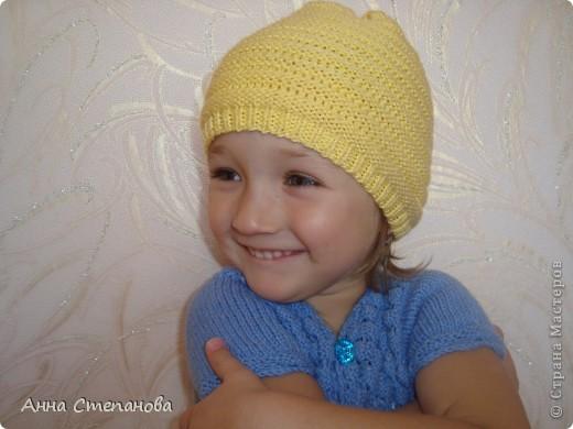Желтая шапочка фото 1