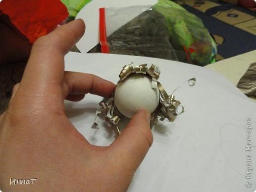 Это игрушка на ёлку. Делали с 4-летней дочкой. фото 3