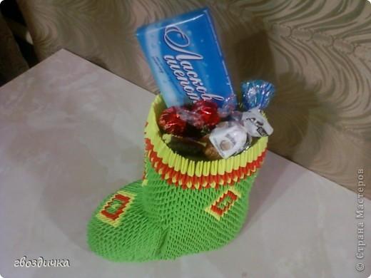 Сапожок с подарком под ёлочку. фото 4