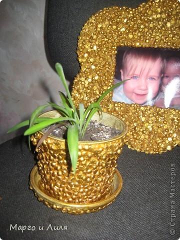 Рамочка и плошечка из гороха фото 2