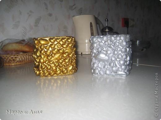 Карандашницы, плошка и рамки из ракушек фото 1