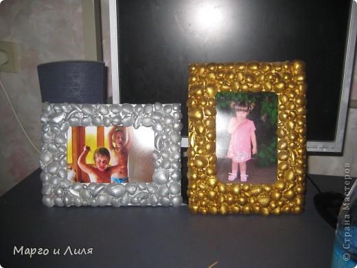 Карандашницы, плошка и рамки из ракушек фото 4