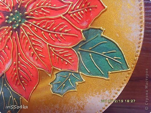 Обратный декупаж,фон золотом,акрилом,подрисовка контуром,лак. фото 2