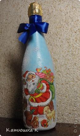 А вот и моя новогодняя бутылочка фото 1