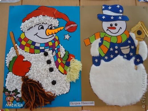 """Детишки, с помощью родителей, """"наряжали"""" снеговиков и их подружек. Снеговиками украсили весь наш класс. фото 9"""