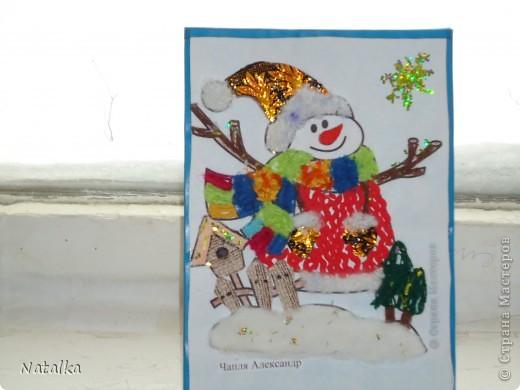 """Детишки, с помощью родителей, """"наряжали"""" снеговиков и их подружек. Снеговиками украсили весь наш класс. фото 8"""