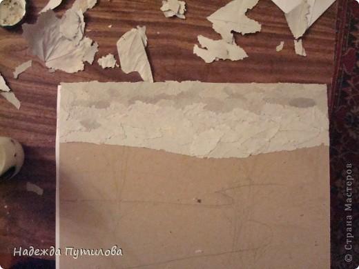 1 этап. Создаем набросок будущей картины на картоне. фото 4