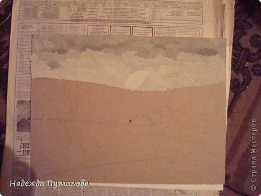 1 этап. Создаем набросок будущей картины на картоне. фото 5