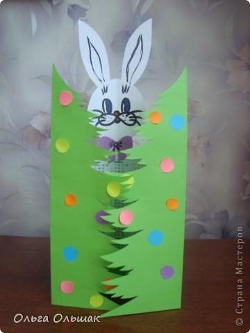 """Пришла мне в голову идея сделать вот такой простенький подарок-открытку """"Зайчик-календарчик"""" фото 1"""