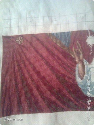 Икона Казанской Божьей Матери. Только сейчас выкладываю готовый вариант в рамке,хотя она несколько лет как подарена родителям. фото 1