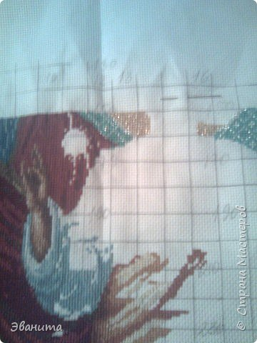 Икона Казанской Божьей Матери. Только сейчас выкладываю готовый вариант в рамке,хотя она несколько лет как подарена родителям. фото 2