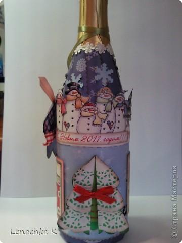 В стиле декупаж я уже наделала бутылок, но захотелось попробовать заскрапить ... фото 1