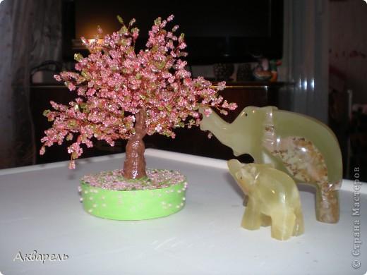 Первое дерево из бисера. фото 2