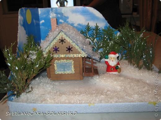 Вот такой милый домик сделала наша семья брату в садик на конкурс)))) фото 1