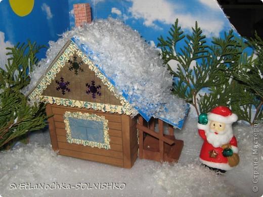 Вот такой милый домик сделала наша семья брату в садик на конкурс)))) фото 2
