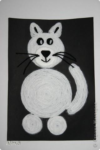 теперь у меня тоже есть символ 2011 года-белый кот! спасибо Татьяне Просняковой за идею и мк!