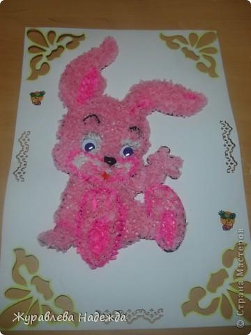 розовый зайка фото 1